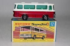 MATCHBOX SUPERFAST #12 SETRA COACH BUS, METALLIC PURPLE, GREEN WINDOWS, BOXED