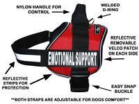Doggie Stylz EMOTIONAL SUPPORT Dog Harness Vest Nylon 2 removable patches USA