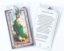 SAINT ST JUDE PRAYER CARD & Colour Medal