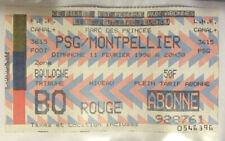 TICKET / BILLET PSG-MONTPELLIER 11/02/1996 D1 paris saint germain sg
