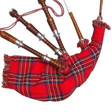 NEUF écossais Highland GRANDE CORNEMUSE bois sheesham naturel Argent