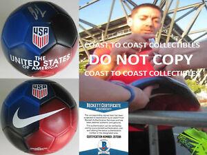 Clint Dempsey Seattle Sounders signed USA soccer ball exact proof Beckett COA.