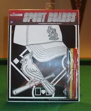ST LOUIS CARDINAL SPORTS COLORING BOARD WITH WASHABLE MARKERS ,NEW