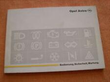 Betriebsanleitung Opel Astra F ,Stand 1992
