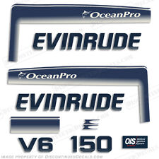 Evinrude 150hp V6 OceanPro Outboard Decal Kit - 1993 1994 1995 1996 1997