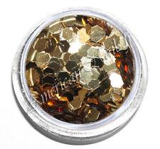 1 boite Paillettes HEXAGONES OR / DORE métal 2,5 mm bijoux d'ongles Nail Art