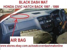 BLACK DASH MAT,DASHMAT FIT HONDA CIVIC 1997-1999,PASSENGER AIR BAG