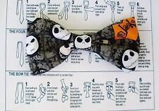 NIGHTMARE BEFORE CHRISTMAS JACK BOW TIE DOUBLE LAYER TUXEDO CLIP ON  WEDDING
