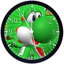 Super Mario Yoshi Black Frame Wall Clock Nice For Decor or Gifts W242
