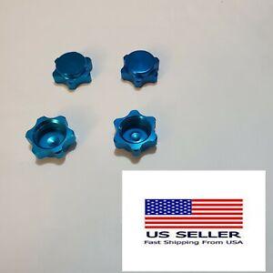 17mm Aluminum Cap Wheel Hub Hex Nut Fine Anti-dust Cover 4PCS