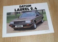 DATSUN/NISSAN LAUREL 2.4 AUTO BROCHURE DI VENDITA 1983