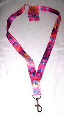 Trolls Put Your Hair in the Air Pink Lanyard Keychain ID Holder-New with Tags!