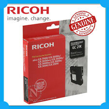 Ricoh Genuine 405532 BLACK Gel Ink Cart->GX7000/GX5050N/GX3050SFN/GX3000S GC-21K