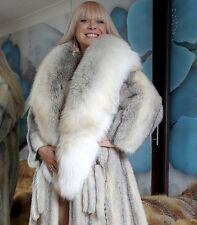 LUXE *SAGA* WHITE CROSS MINK COAT & GOLDEN ISLAND FOX FUR XXL STOLE NEW!