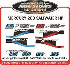 MERCURY 200  Saltwater Decal Kit  115 150 175 225 250  optimax EFI