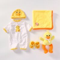 """Reborn Baby Doll Yellow Clothes Set For 23"""" Reborn Toddler Dolls Outfit Kits DIY"""
