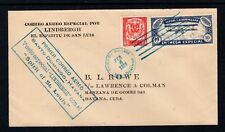 Dominican Rep 1928 FFC Lindbergh Spirit of St Louis BL Rowe Cover to Havana