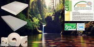 Oeko-Tex Eco Certified 7-ZONE 100% Full Natural Latex Mattress All Sizes