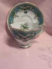 More details for vintage queen anne marilyn tea cup & saucer set snowdrop flower✅115