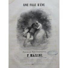 MASINI F. Une Fille d'Éve Chant Piano ca1840 partition sheet music score