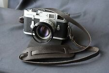 Italian Leather Camera Neck Shoulder Strap leica nikon contax canon DARK BROWN