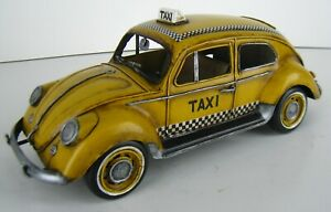 Tinplate Model Car – 1934 VW Decorative Beetle Checker Taxi car 1:12 scale GIFT
