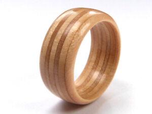 RECYCLED SKATEBOARD Wooden Ring Wood Handmade Band Rings Custom Mens Womens