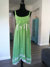 PAUL & JOE GREEN DRESS SIZE 40. 100% SILK