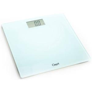 Ozeri Precision Digital Bathroom Scale, Tempered Glass - White (400 lb Capacity)