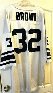 Rare #32 Jim Brown All American Adidas True School Authentics Browns Jersey 4xl