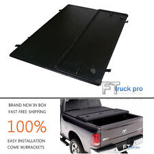 Tri-Fold Lock Hard Solid Tonneau Cover For 99-17 FORD F250 F350 F450 6.5ft Bed