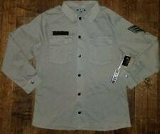 NEW ELWD cotton twill field jacket army green Military Vintage Shirt Mens Medium