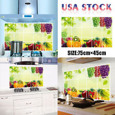 Fruit Printing Kitchen Oilproof Removable Wall Stickers Decor Home Decal