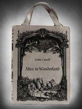 Restyle Alice In Wonderland Grey Novel Book Shoulder Hand Bag