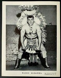 1960s Vintage Wrestling Publicity Photo Wrestler + NFL Player Wahoo McDaniel