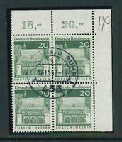 BRD Michel-Nr. 491 als 4er Block - Ecke 2 - Eckrand - gestempelt - Vollstempel