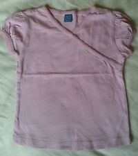 GIRLS PINK T SHIRT TOP AGE 4 YEARS PLAIN PINK