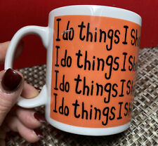 "Mc Laggan Smith Coffee Mug Scotland Toby Pimlico "" I do things I shouldn't"" RARE"