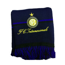 INTER scarf wool with coat-of-arms e embroidered lettering from adult e baby