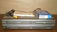 Magnavox MWD2205 VCR DVD Combo Recorder VHS Player RCA Cables Manual Tape Tested