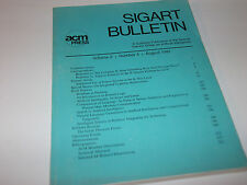 QTY-7 SIGART BULLETIN ARTIFICIAL INTELLIGENCE 1991-93 VINTAGE RARE LOT OF 7 PCS