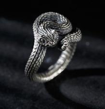 925 Silver Handmade Design rattlesnake Snake Open Ring Original Men's Gift Retro