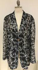 Luxury Brand Eloquence Paris Animal Print Jacket Size 48, UK Size 22