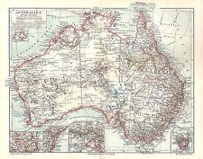 AUSTRALIEN Tasmanien Queensland Sidney historische LANDKARTE  1905