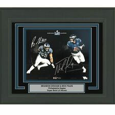 FRAMED Autographed/Signed NICK FOLES & BRANDON GRAHAM 11x14 Photo Fanatics COA