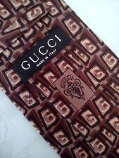 CRAVATTA UOMO (TIE)  vintage  GUCCI made in Italy  New!  rare