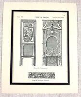 1903 Antique Print French Interior Design Louis XIV Decorative Pierre Le Pautre