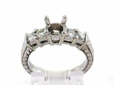 0.55 CT Vintage five stone Semi mount ring natural diamond VS1/G 14K White Gold