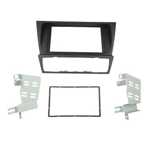 Double Din Fascia for BMW 3 Series E90 E91 E92 E93 Radio Panel GPS Installation