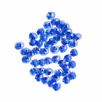 50 PCS Blue Crystal Octagon Faceted Glass Prism Beads Chandelier Part 14mm